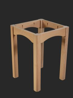 4 Legged Table with Thumbrolled Legs and Cut Out in Rails