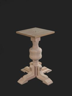 Bulbous Single Pedestal Base