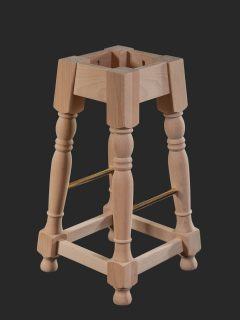 Chunky Tudor High Stool