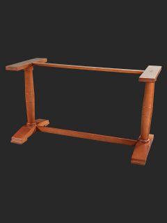Contemporary Twin Pedestal Table Base
