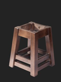 Double Footrail Low Stool