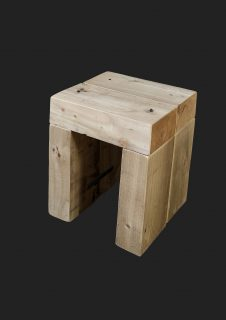 Slab-end Low Stool