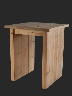 Slab-end Poseur Height Pine Table
