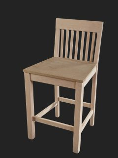 Slat Back High Stool