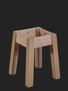Splayed Out Square Leg Low Stool