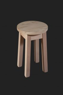 Splayed Out Square Leg Low Stool with RFU Seatboard