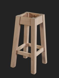 Square Leg High Stool Legs Splayed Out