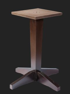 Tapered Column Single Pedestal Dining Base